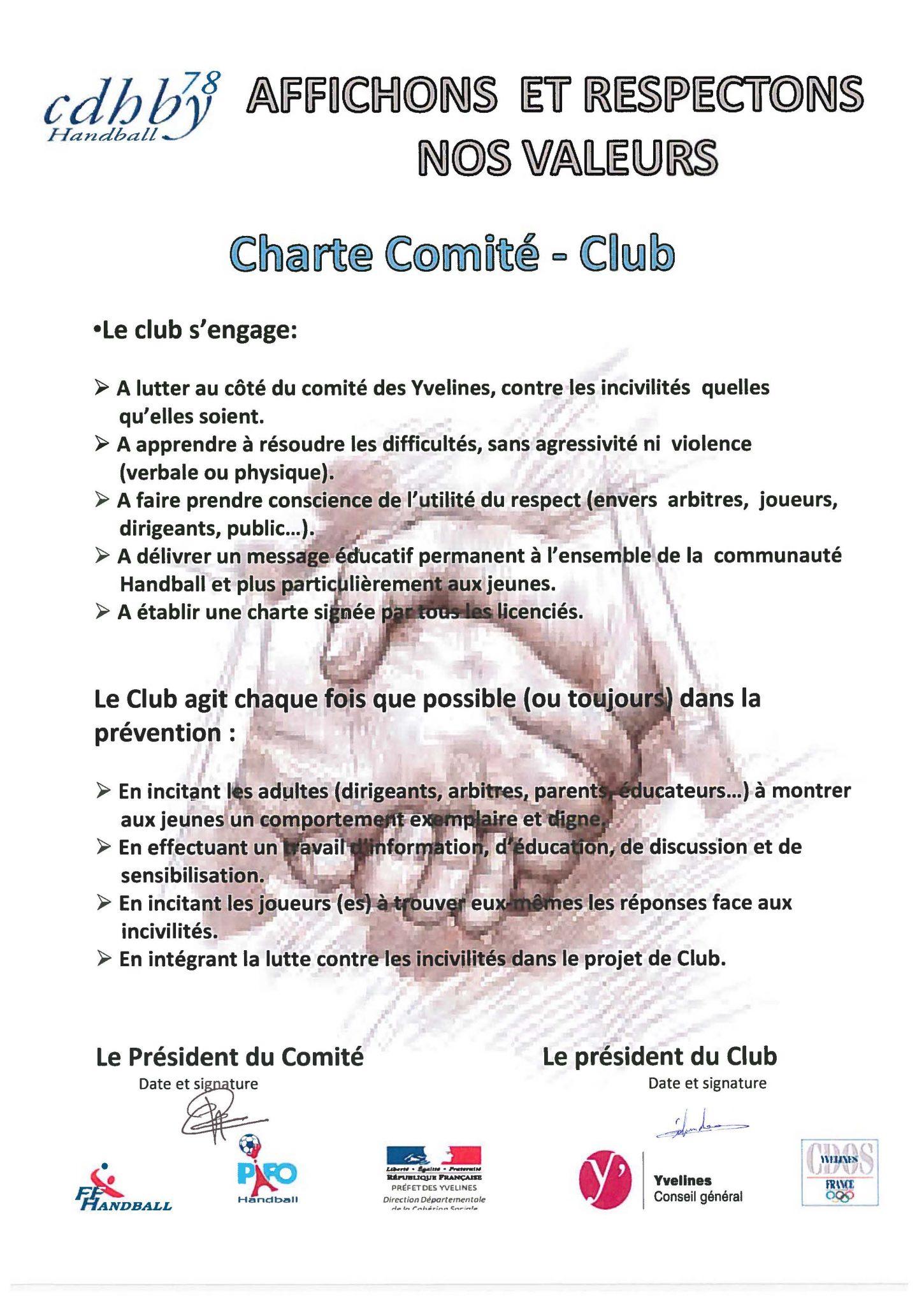 Charte Comite Club