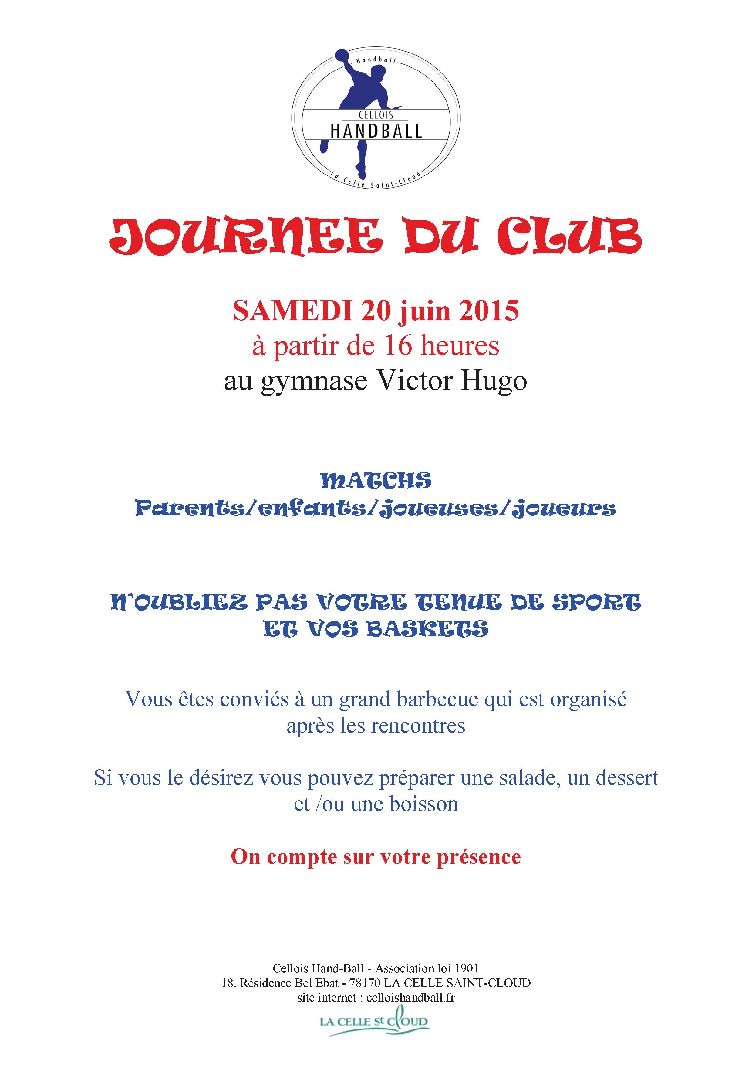AFFICHE JOURNEE DU CLUB 20 06 2015
