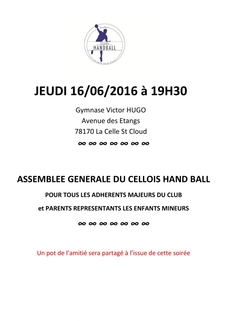CONVOCATION ASSEMBLEE GENERALE 2016